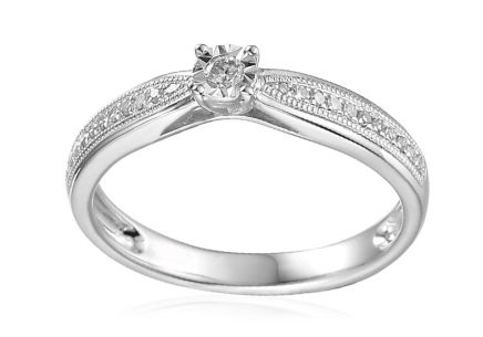 White Gold Engagement Ring with Diamonds 0.240 ct Maya 2