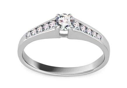 White Gold Engagement Ring with Diamonds 0.250 ct Oldwyn
