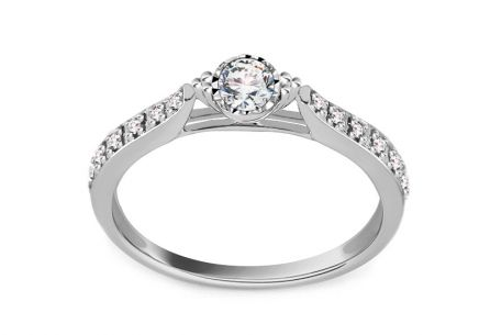 White Gold Engagement Ring with Diamonds 0.260 ct Candance