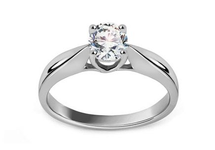 White Gold Engagement Ring with Half Carat 0,500 ct Diamond Isabele