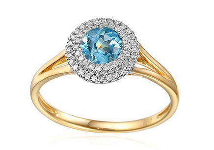 Topaz Ring with Diamonds Madeleine
