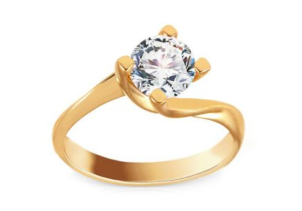 Gold Engagement Ring with Stone Mikaila