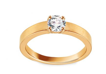 Gold Engagement Ring with Zircon Adaliz