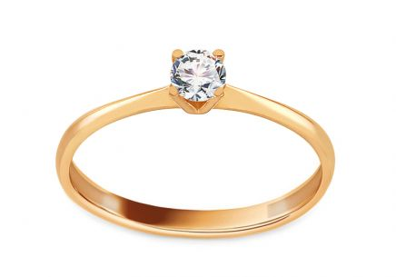 Gold Engagement Ring with Zircon Chelsea