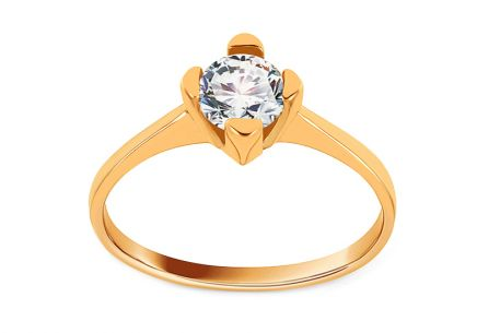 Gold Engagement Ring with Zircon Madilyn