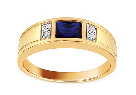Gold Ring with Blue Stone Isarel
