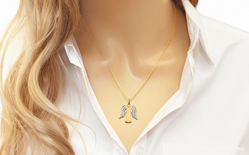 Gold Angel Pendant - IZ7338