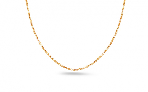 Gold chain Rolo 1.5 mm - IZ16877 - on a mannequin
