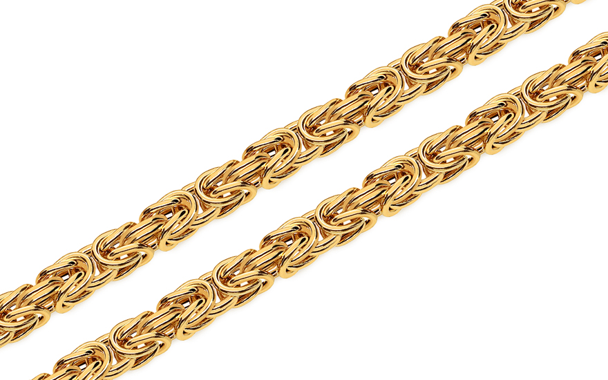 Gold chain royal pattern 5mm - IZ6309