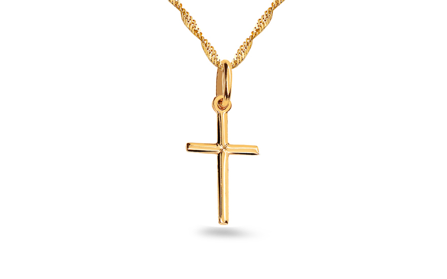 Gold cross pendant - IZ4788