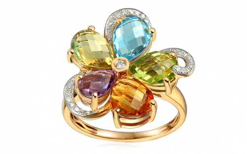 Gold Rings - Citrine