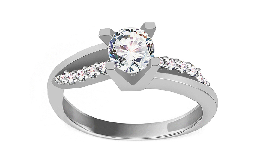 Gold Engagement Ring Diamond pattern - CSRI800A