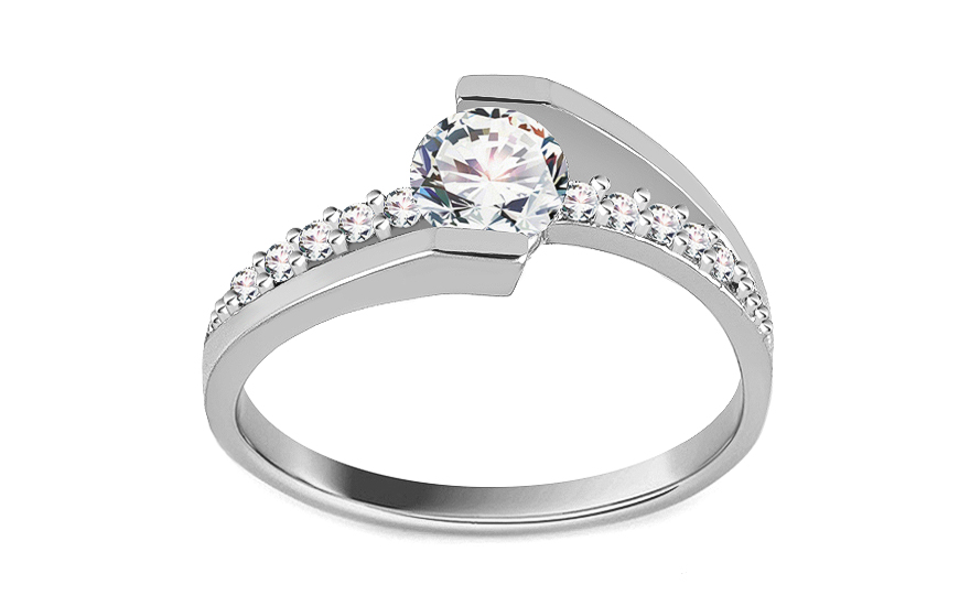 Gold Engagement Ring Giggi white - IZ8897A