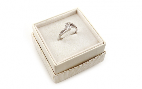 Gold Engagement Ring Giggi white - IZ8897A - in a box