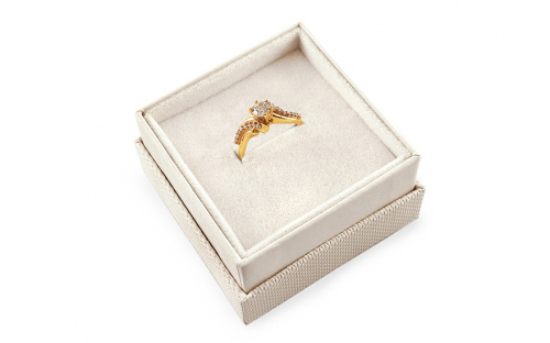 Gold engagement ring Isarel - CSRI799Y - in a box