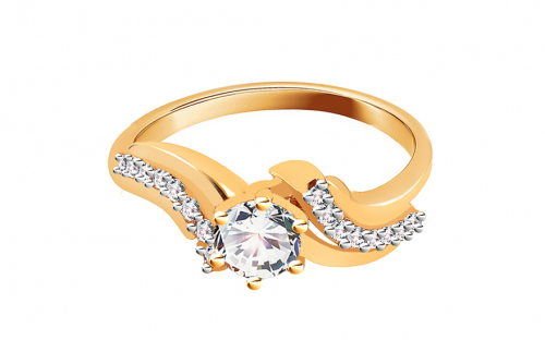 Gold engagement ring Isarel - CSRI799Y