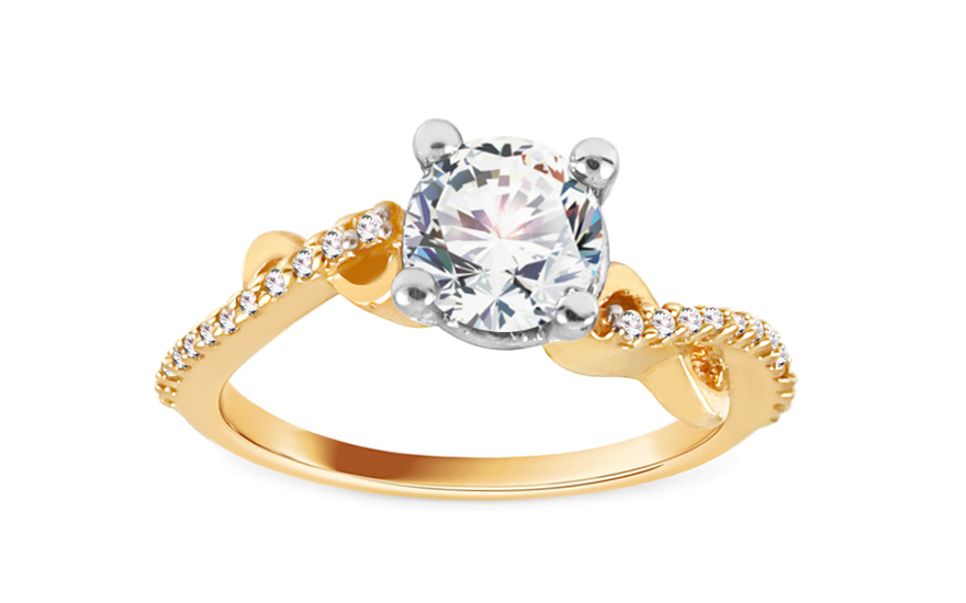 Gold Engagement Ring Isarel 20