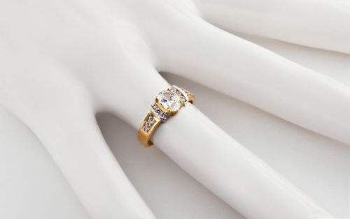 Gold Engagement Ring Isarel 21