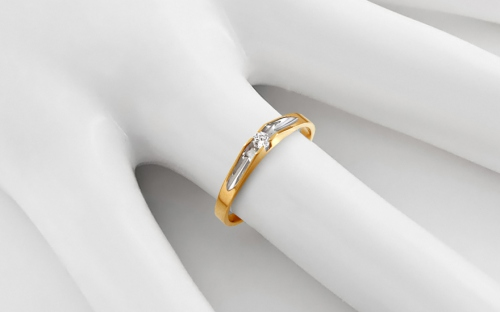 Gold Engagement Ring Pretty 14 - CSRI2067