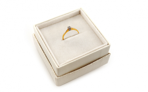 Gold Engagement Ring Pretty 4 - CSRI1993 - in a box