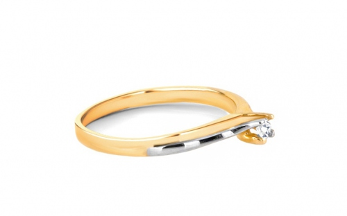 Gold Engagement Ring Princess 7 - CSRI242