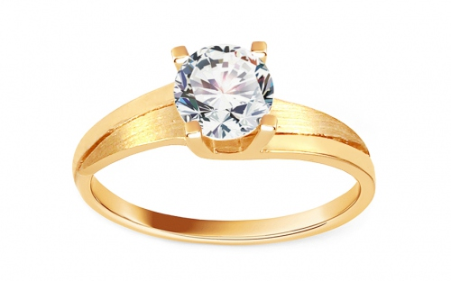 Gold Engagement Ring The most beautiful