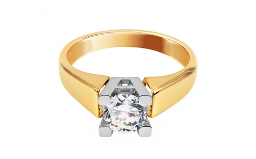Gold Engagement Ring with Zircon Lucille - IZ11277