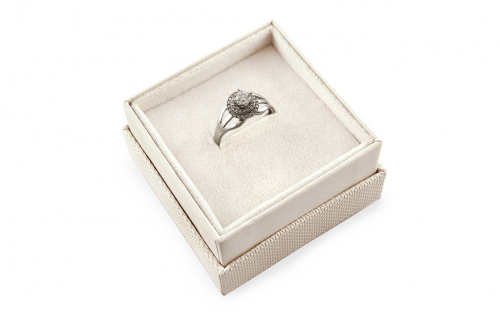Gold Engagement Ring with Zircons Meira - KORI254 - in a box