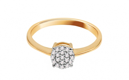 Gold Engagement Ring with Zircons Tess - IZ11407