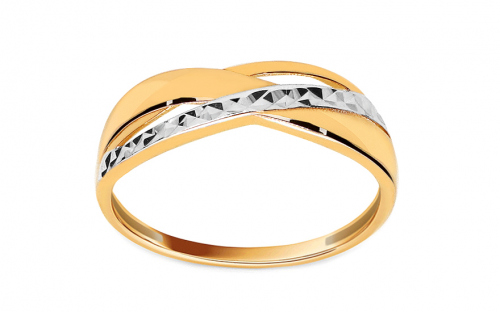 Gold Engraved Ring - IZ11166
