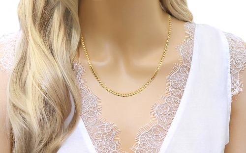 Gold full chain Pancier 3 mm - IZ8084