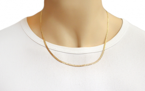 Gold full chain Pancier 3 mm - IZ8084 - on a mannequin