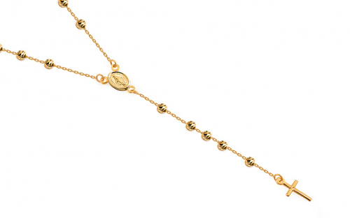 Gold necklace rosary - IZ18035