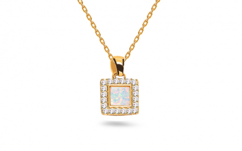 Gold Necklaces - Opal