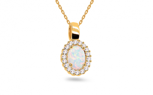 Gold Pendants - Opal