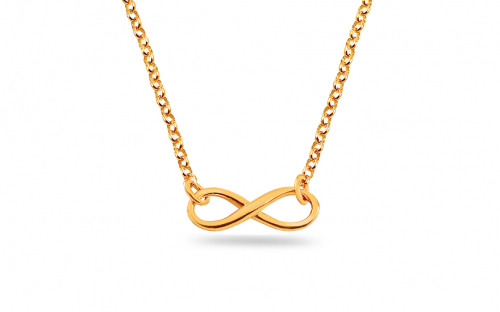 Gold plated 925 sterling silver necklace Infinity - IS1134NA