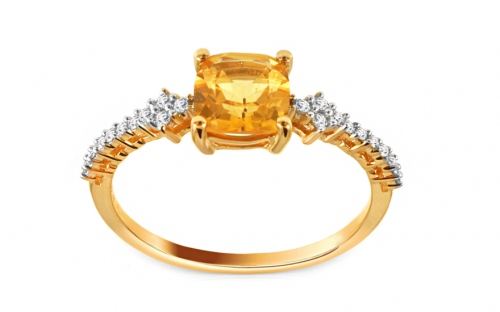 Engagement Rings - Citrine