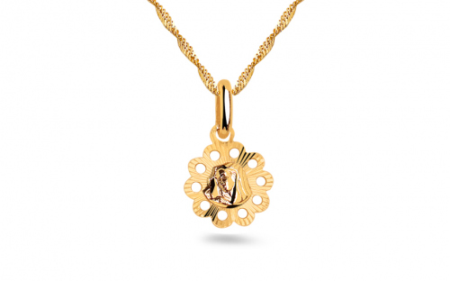 Gold Virgin Mary Pendant