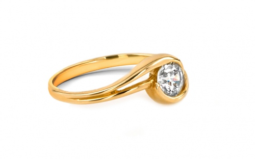 Gold Engagement Ring Ramona 7