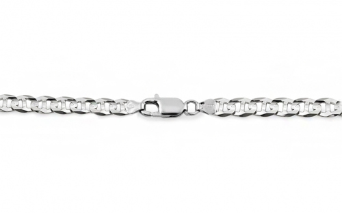 Rhodium plated Silver Gucci Marina Chain - IS173