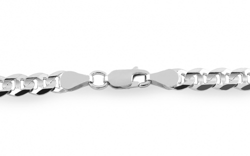 Rhodium plated Silver Gucci Marina Chain - IS239