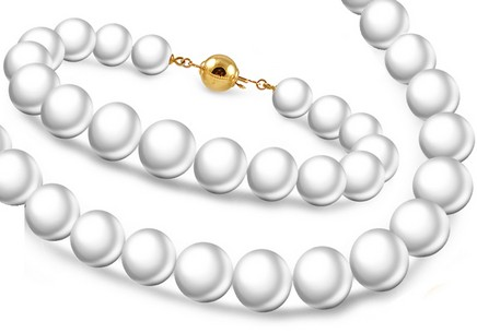 Set Of Natural White Pearls