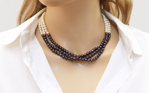 Ladies pearl necklace - IS76
