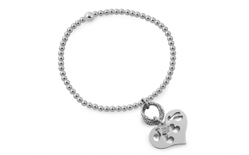 Ladies silver bracelet heart - OZC401