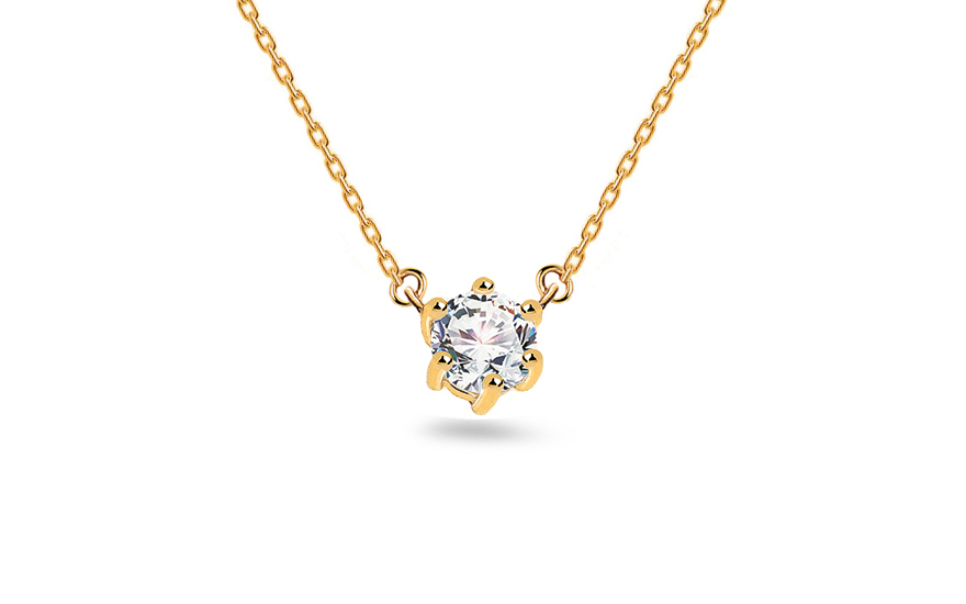 Necklace with solitaire stone - IZ19228
