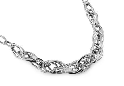 Interweaved Silver Necklace