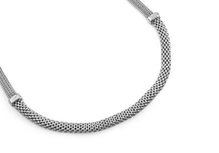 Rhodium plated 925 Sterling Silver Necklace