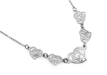 Sterling Silver necklace Hearts