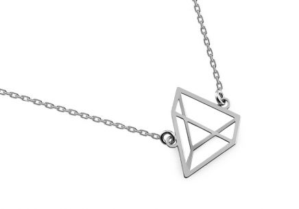 Silver Pyramid Necklace