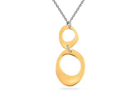 Women's Rhodium plated silver necklace with 14k.goldplate
